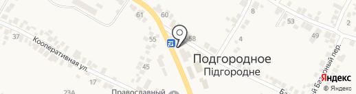 Бородинская вода на карте Подгородного