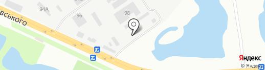 Такт на карте Днепропетровска