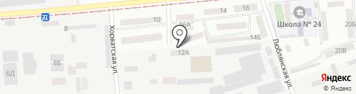 Форза на карте Днепропетровска