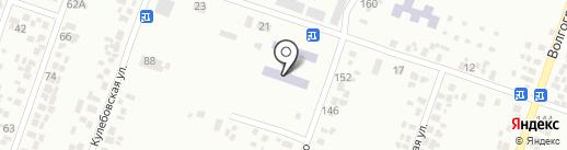 Середня загальноосвітня школа № 12 на карте Новомосковска