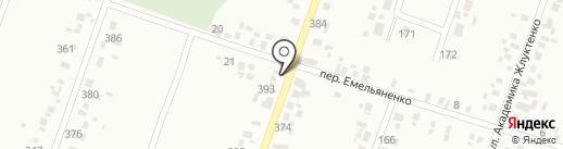 Продовольственный магазин на карте Новомосковска