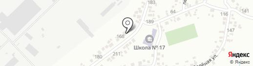 Росинка на карте Новомосковска