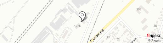 СТО на карте Новомосковска