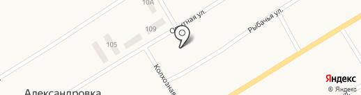 Днепропетровская исследовательская станция на карте Александровки
