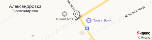Екатеринославхлеб на карте Александровки