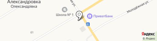 Меблі на карте Александровки