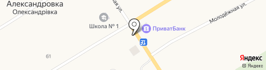 Лада-Запчасти на карте Александровки