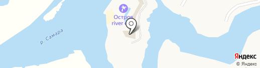 Остров River Club на карте Новосёловки