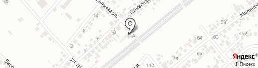 Рубеж на карте Новомосковска