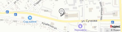 Магазин-склад строительных материалов на карте Новомосковска