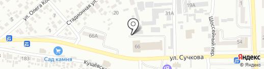 Гранитная мастерская на карте Новомосковска