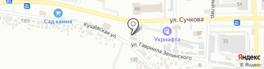 Шиномонтаж на карте Новомосковска