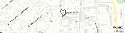 Новомосковське управління по експлуатації газового господарства на карте Новомосковска