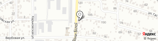 Склад-магазин автозапчастей на карте Новомосковска