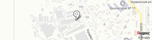 Цезарь, ЧАО на карте Новомосковска