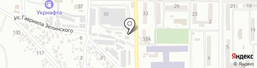 Пальник на карте Новомосковска