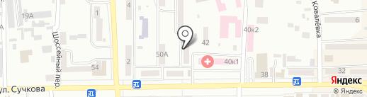 Узи-центр на карте Новомосковска