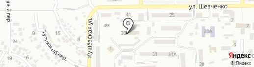 Амбулаторія №6 на карте Новомосковска