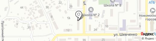 Атлет на карте Новомосковска