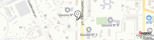Неаполь на карте Новомосковска