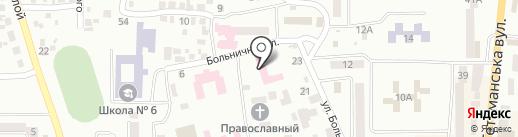 Новомосковська станція швидкої медичної допомоги на карте Новомосковска