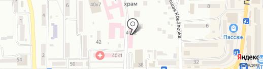 Новомосковський міський центр первинної медико-санітарної допомоги на карте Новомосковска