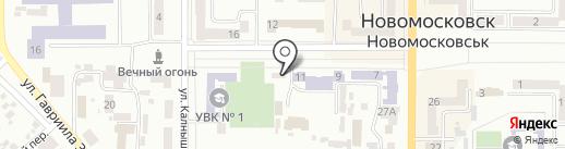 Навигатор на карте Новомосковска