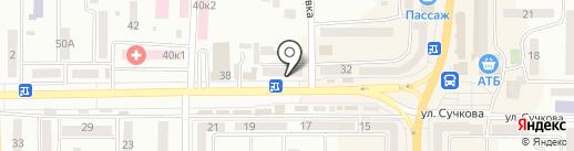 Новомосковське центральне поштове відділення на карте Новомосковска
