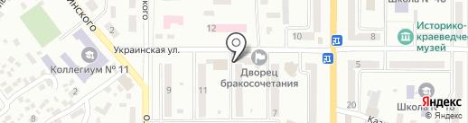 Мегастом на карте Новомосковска