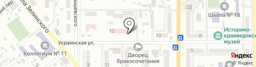 Новомосковська міська рада на карте Новомосковска