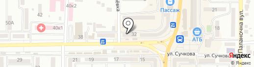 Ювелирный магазин на карте Новомосковска
