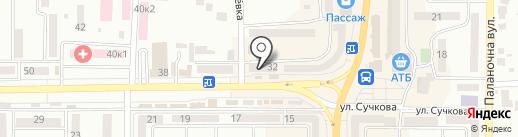 Юстем плюс на карте Новомосковска