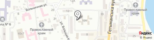 Управління пенсійного фонду в м. Новомосковськ та Новомосковському районі на карте Новомосковска