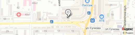 Юстем на карте Новомосковска