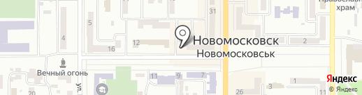 Фінансове управління Новомосковської міської ради на карте Новомосковска