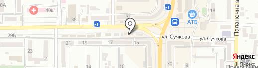 Кондитерский магазин на карте Новомосковска
