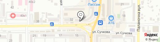 Франс.уа на карте Новомосковска