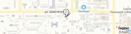 Новомосковське міськрайонне управління юстиції на карте Новомосковска