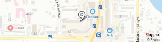 Стекольная мастерская на карте Новомосковска