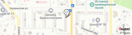 Селена на карте Новомосковска