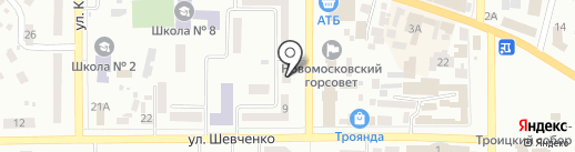 3-D студия на карте Новомосковска