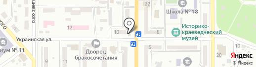 Банкомат, Райффайзен Банк Аваль на карте Новомосковска