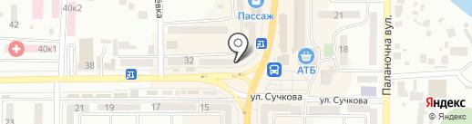 Камелия на карте Новомосковска