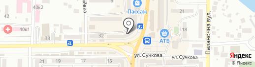 Келих на карте Новомосковска