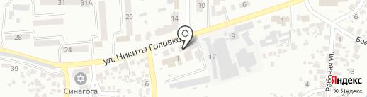 Відділ дозвільної системи на карте Новомосковска