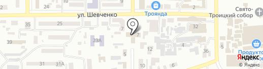 Новомосковська районна державна адміністрація на карте Новомосковска