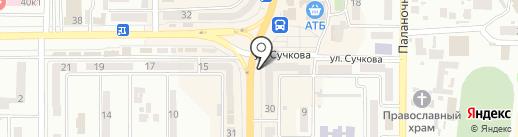 Днепровский хлебокомбинат №11 на карте Новомосковска