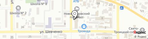 Колос на карте Новомосковска