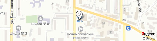 Proba на карте Новомосковска
