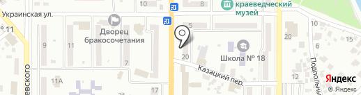 Почтомат, КБ ПриватБанк, ПАО на карте Новомосковска